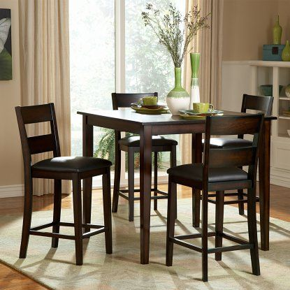 Homelegance Griffin 5 Piece Counter Height Dining Table Set   Espresso