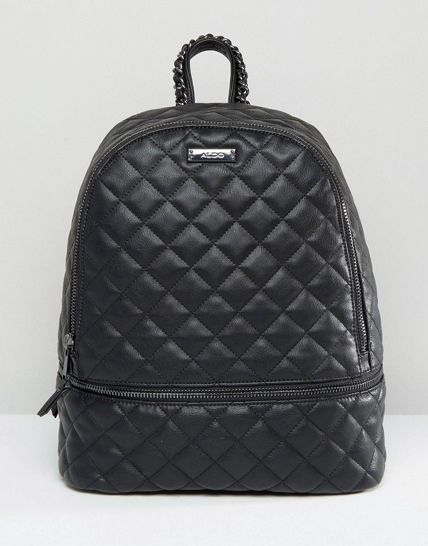 ALDO Quilted Backpack in Black   ASOS   Pinterest   Backpacks, Bag ... : black quilted rucksack - Adamdwight.com