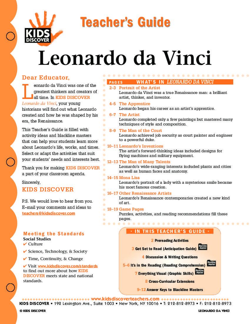 Examples Of A Thesis Statement In An Essay  Research Paper Essay also Hamlet Essay Thesis Leonardo Da Vinci  Kids Discover  Art Ed  Leonardo Da  High School Sample Essay