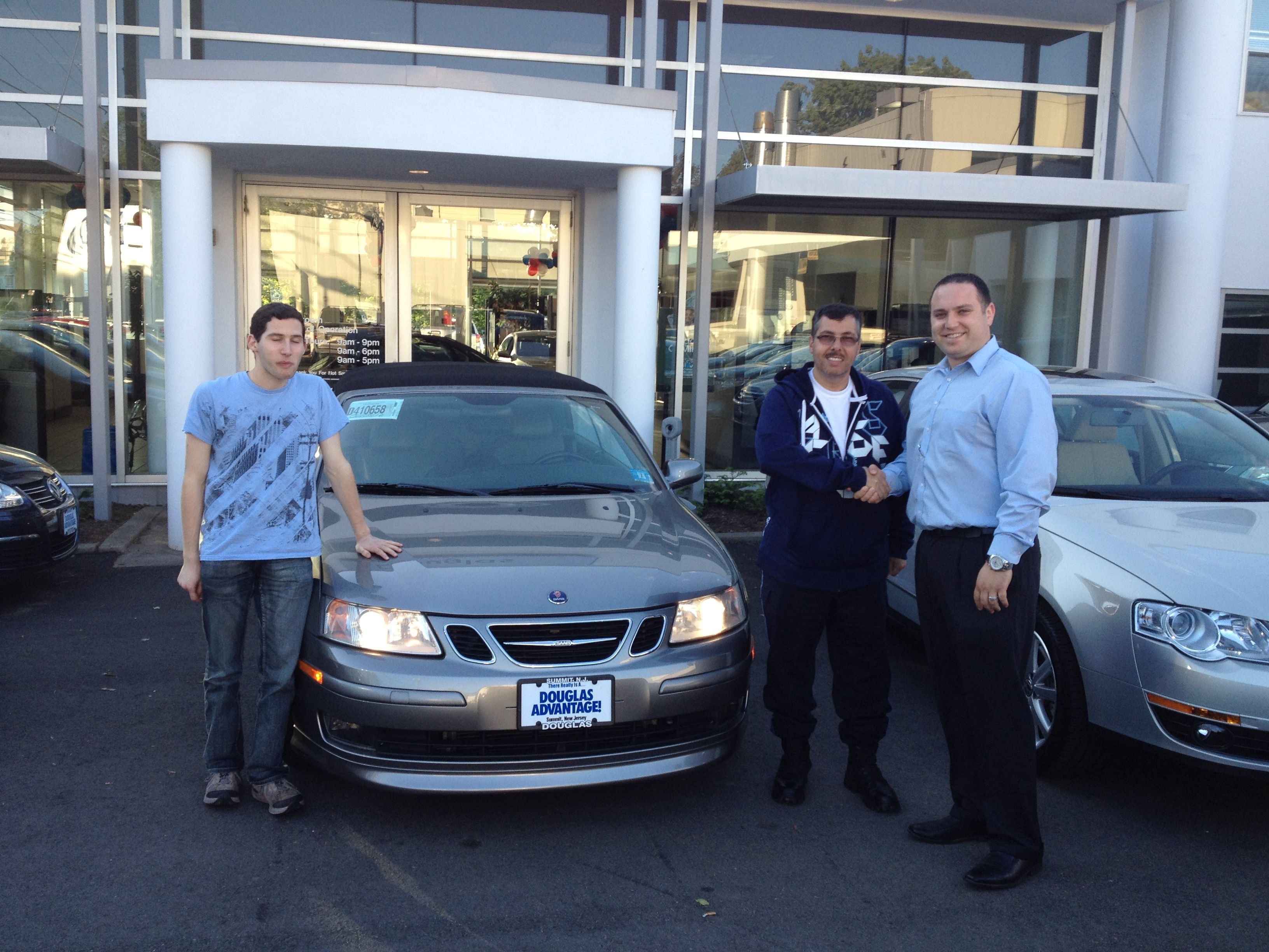 Tony Campos From Union Nj Picking Up His 2005 Saab Convertible From Douglas Vw Sales Consultant Vlad Voskoboynikov Saab Convertible Cars For Sale Volkswagen