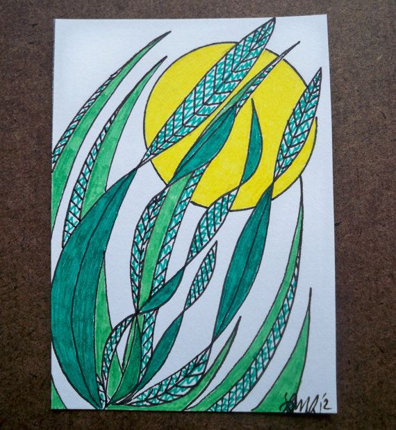 Moon Reeds Original ACEO by ellemardesigns on Etsy, $8.00