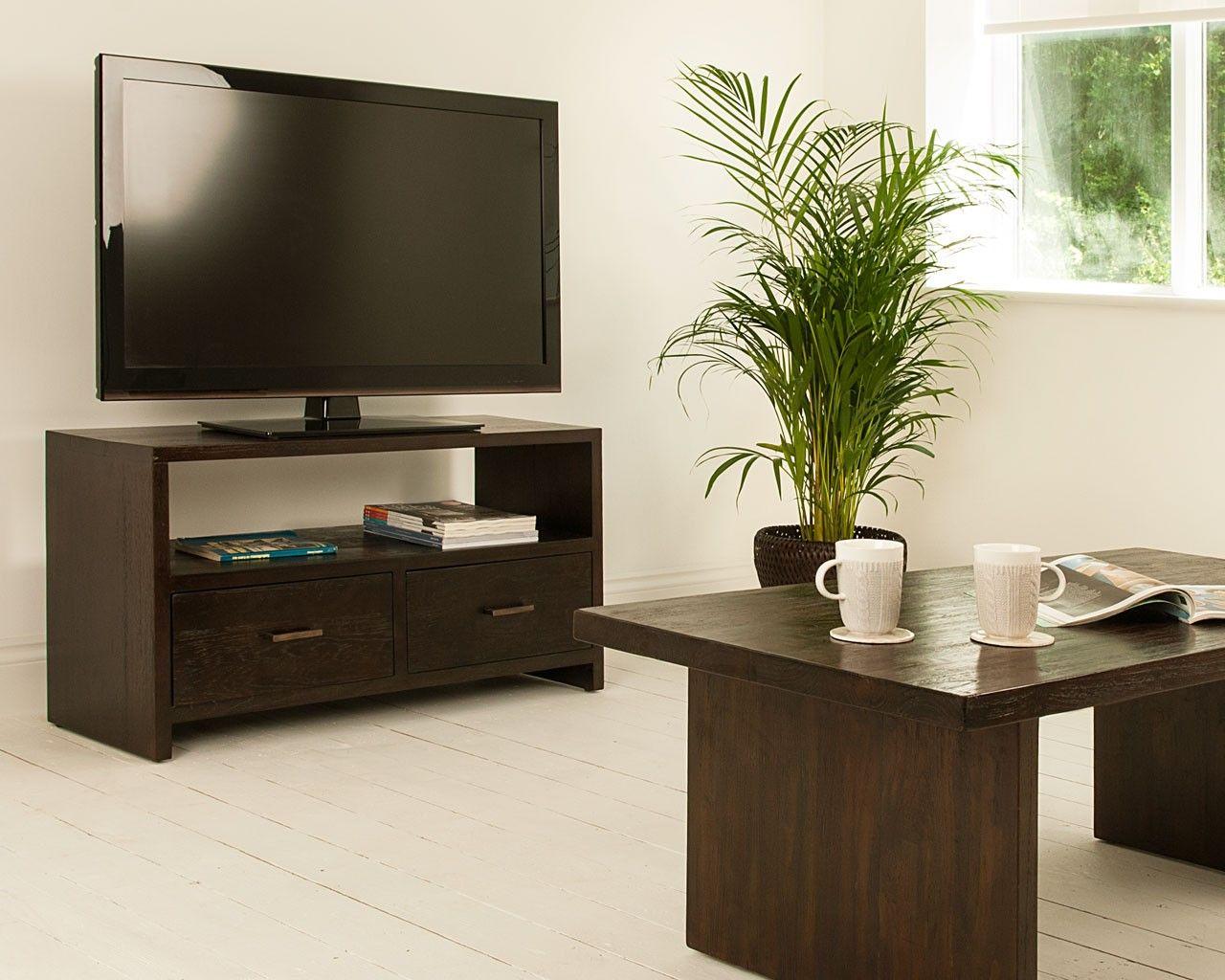 Indah Dark 2 Drawer TV Unit | TV unit, Teak and TVs