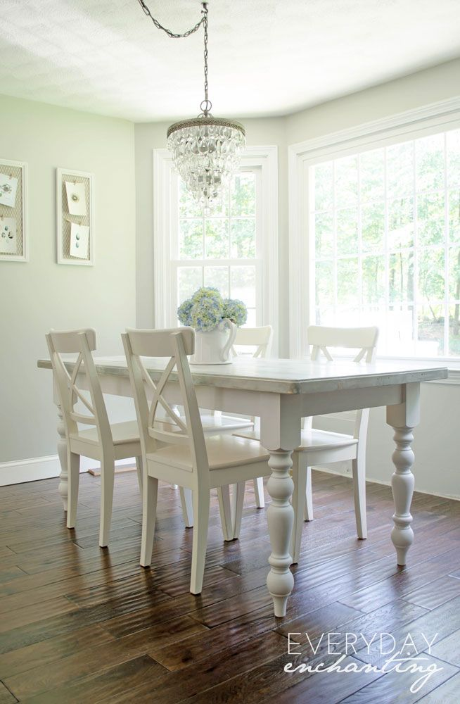 Picnic Table To DIY Cottage Dining Table Tutorial