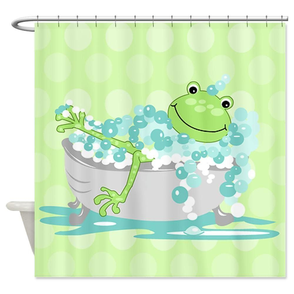 Peeking Frogs Shower Curtain And Hook Set For My Bathroom Time Change
