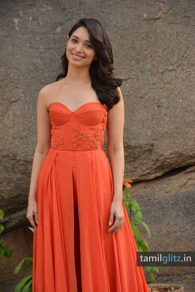 Tamanna Photos in Orange Dress - HD Images - TamilGlitz - Page 5 ...