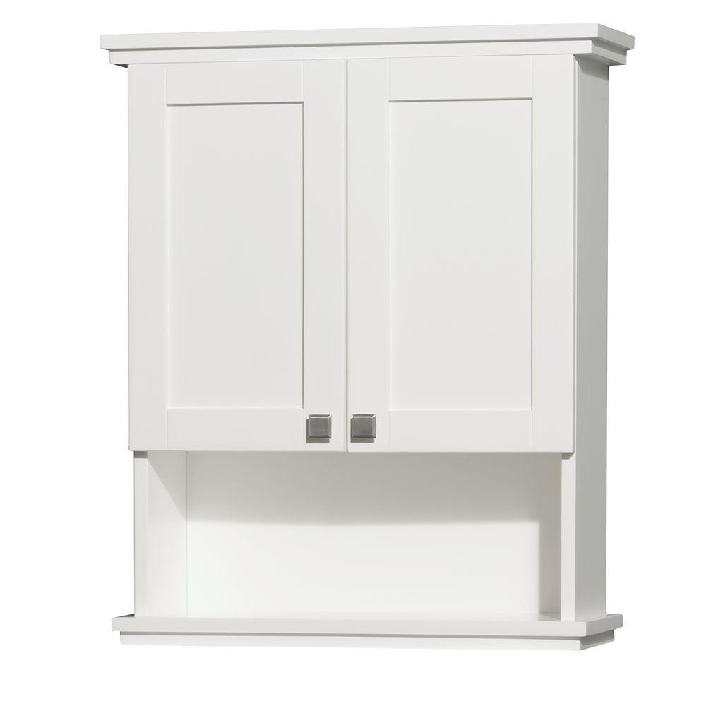 Wyndham Collection Acclaim 25 In W X 30 In H X 9 1 8 In D Bathroom Storage Wall Cabinet In White Wcv8000wcwh Decoracion De Interiores Interiores Zoclo