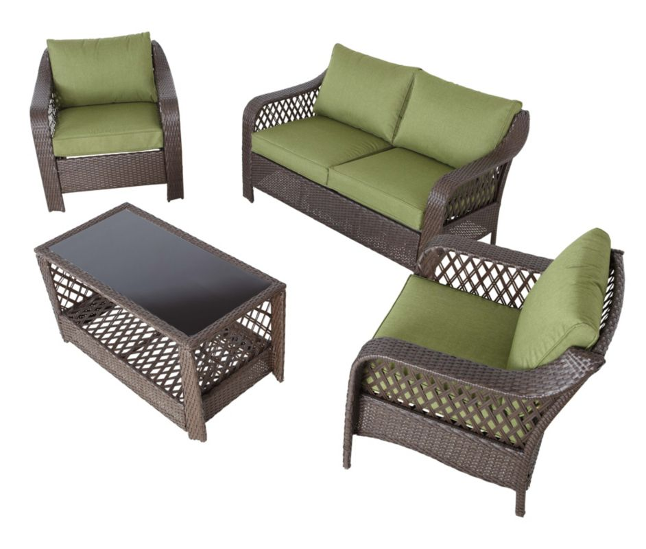 Sumatra Olive Conversation Set Garden Furniture