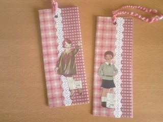 Cute bookmarks made with scrap paper using cereal boxes!