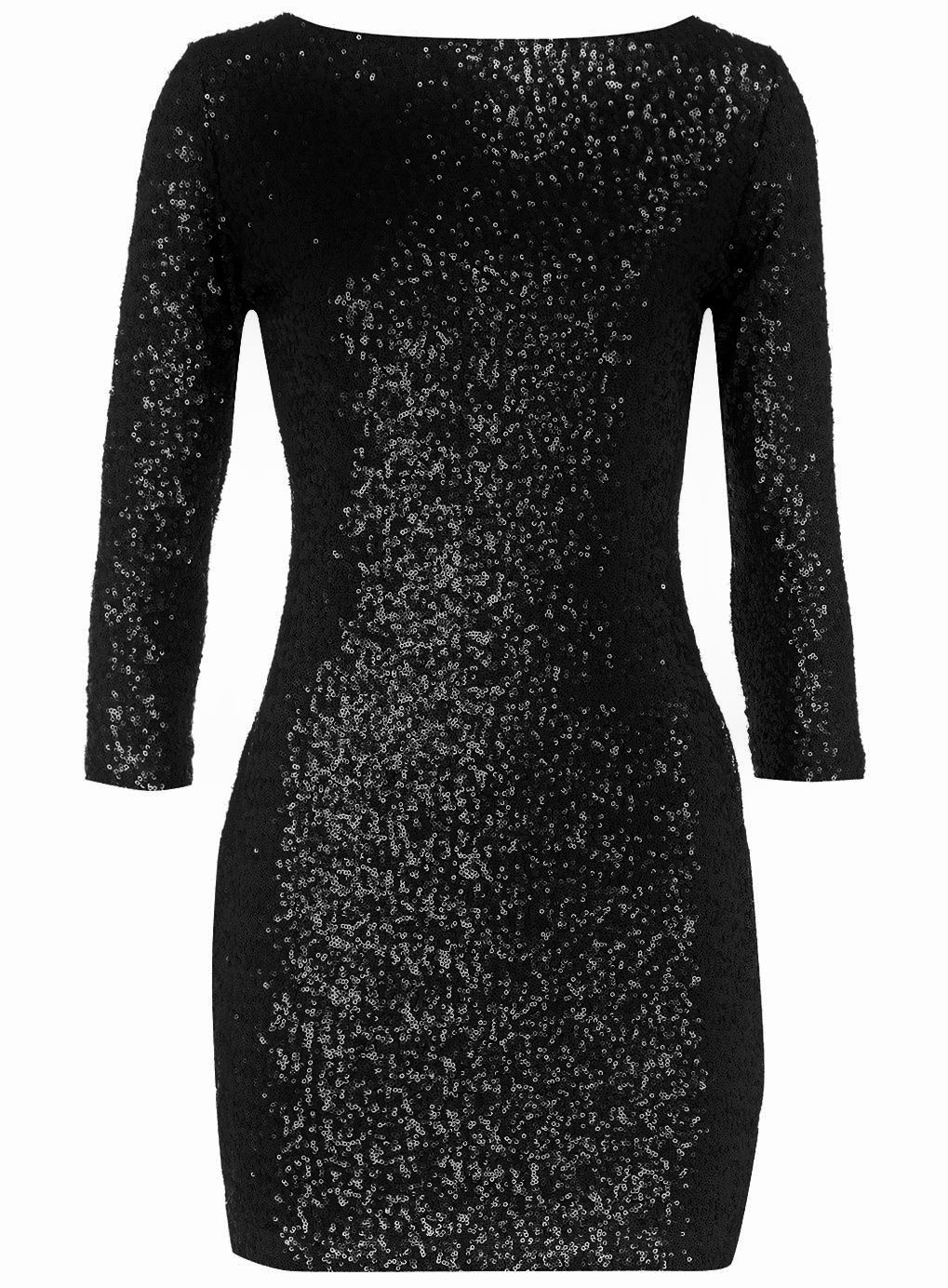 Black Sequin Dress Photo Album - Reikian