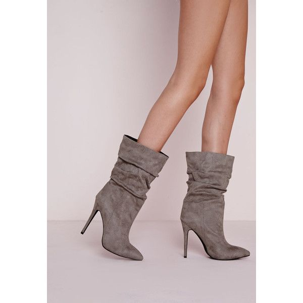 b2376d9536aa Missguided Ruched Pointed Toe Ankle Boots ( 90) ❤ liked on Polyvore  featuring shoes