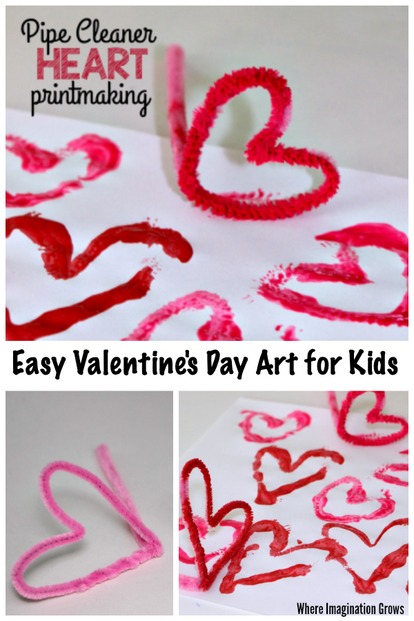 Pipe Cleaner Heart Craft for Valentine's Day