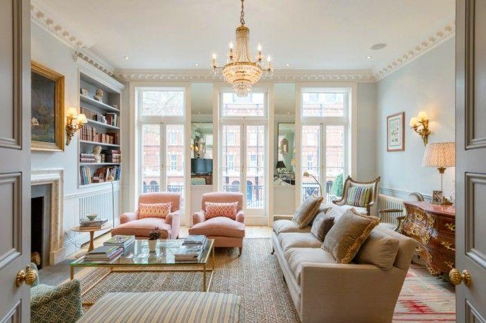 Klassische Wohnzimmer ~ Wohnzimmer einrichten ideen modernes innendesign mit klassischen