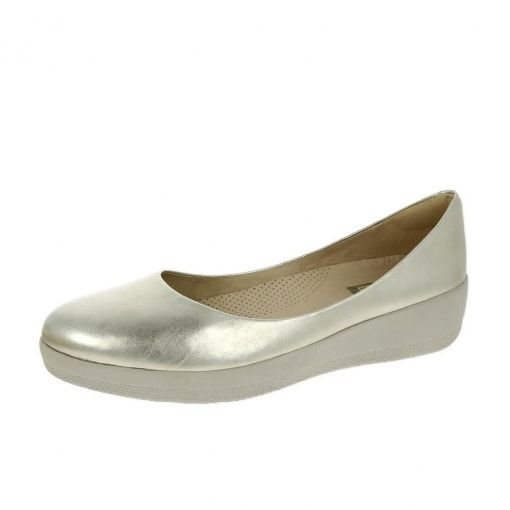65d5786f4159 FitFlop™ Leather Superballerina™ Shoes Pale Gold