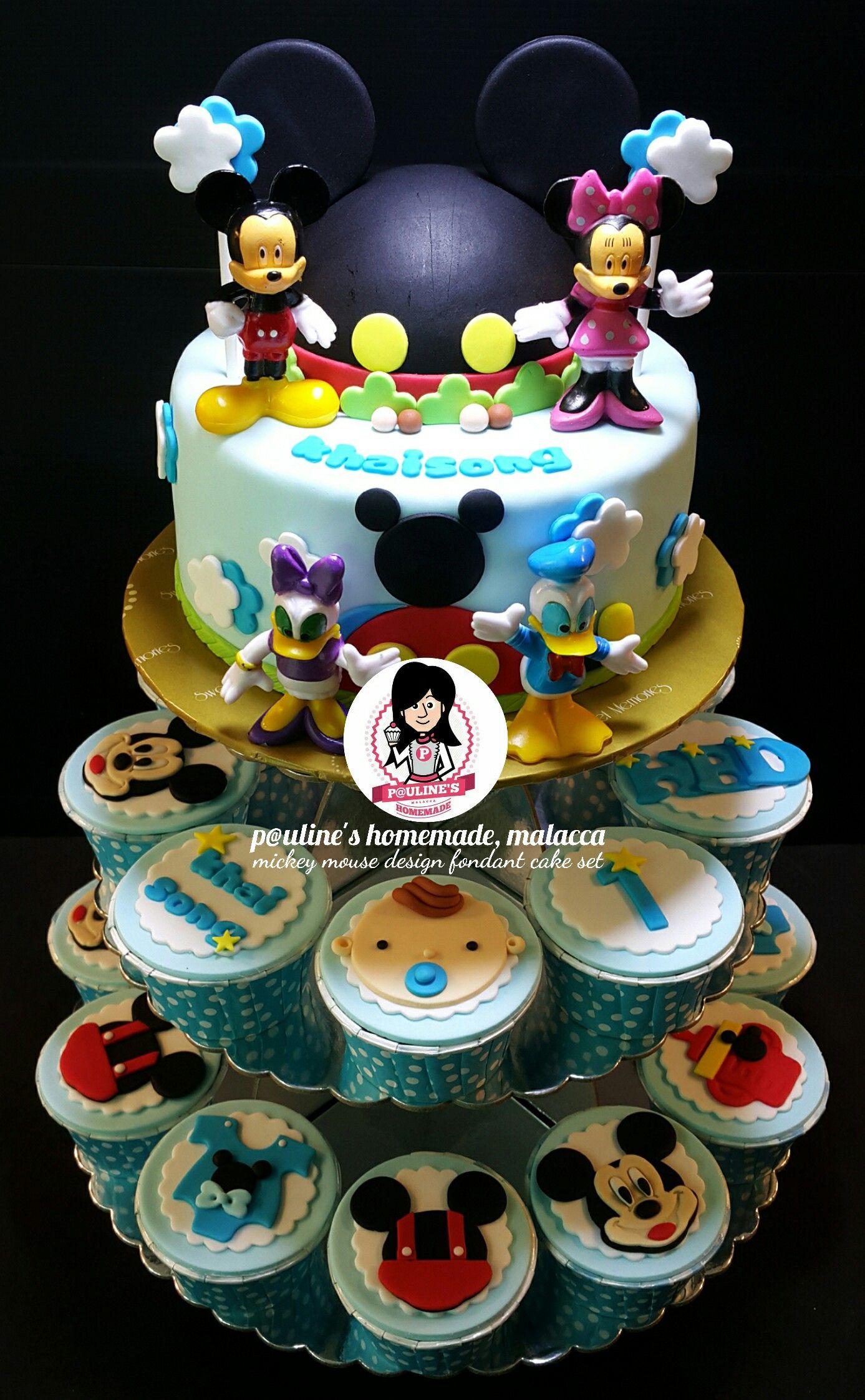 Mickey & Friends Fondant Tower Set Desserts, Cake, Fondant