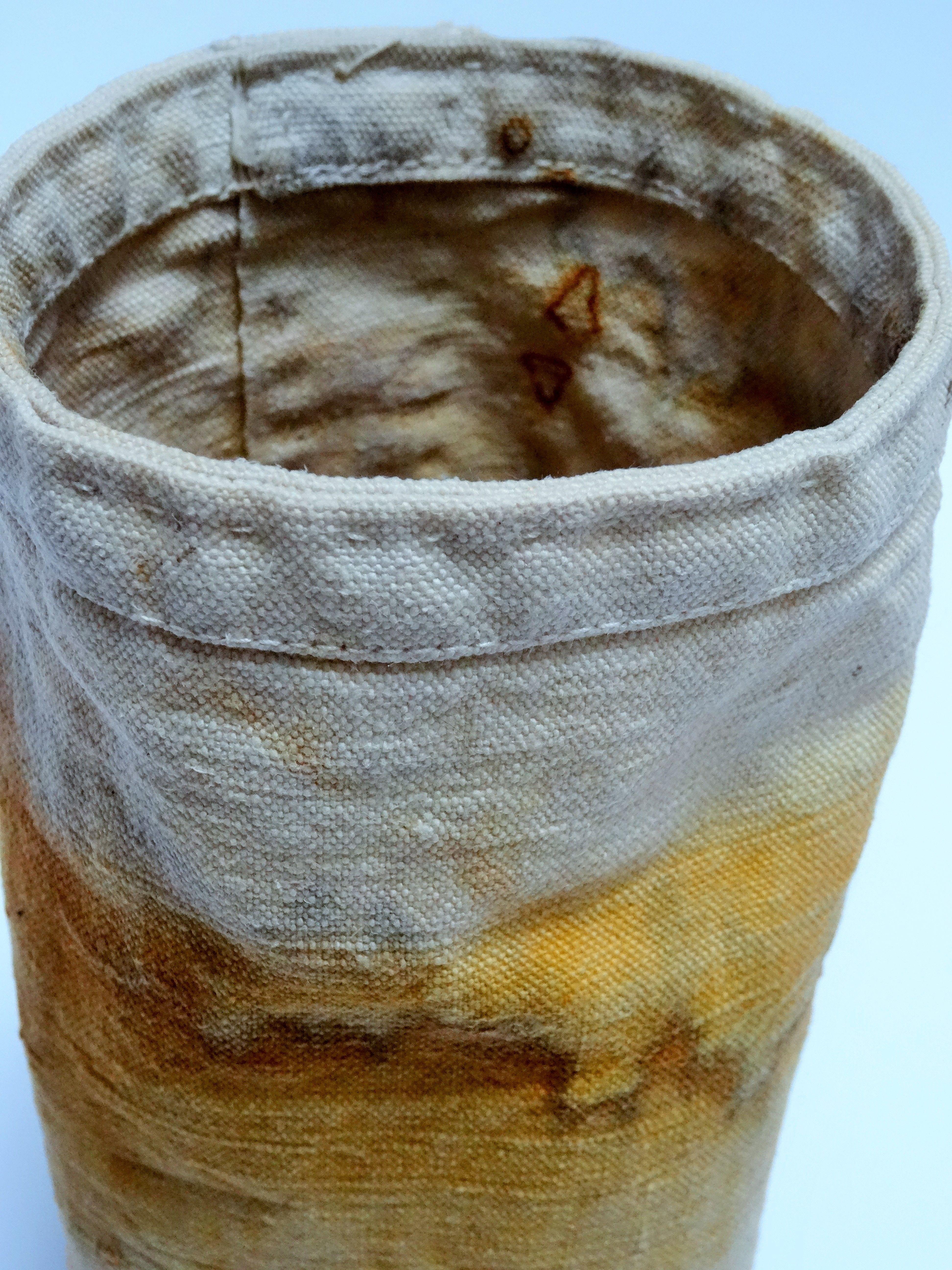 Jule Mallett - Rust dyed cloth vessel from vintage linen