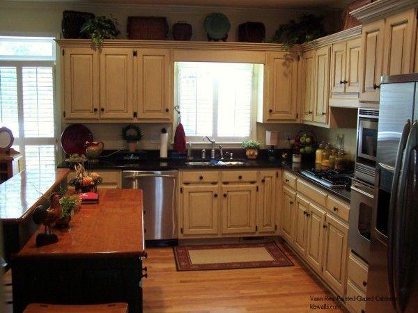 Off White Kitchen Cabinets With Glaze Glazed Cabinets | Faux Finshed  Cabinetry | Painted Kitchen Cabinets