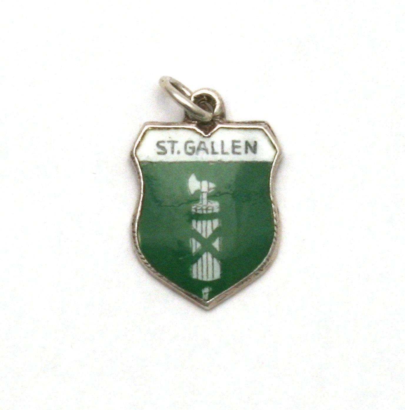 Gallen Vintage REU Sterling//Enamel St Switzerland Shield Charm New