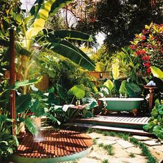 Spy the claw-foot tub outside the Ian Fleming Villa at Jamaica's GoldenEye retreat