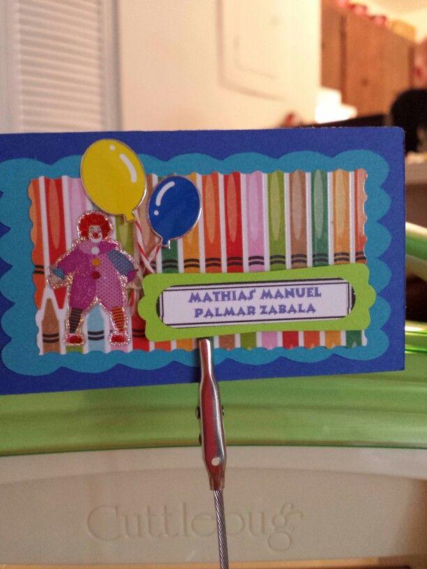 El circo tarjetas infantiles,, tarjetas infantiles personalizadas