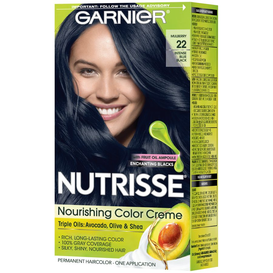 Garnier Nutrisse Nourishing Hair Color Creme Blacks 20 Soft
