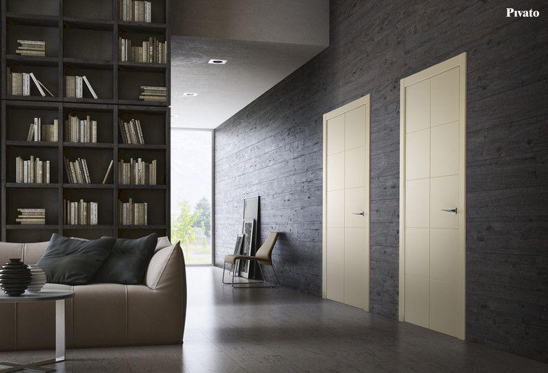Porte interne in legno spazzolato laccato avorio | Porte interne a ...