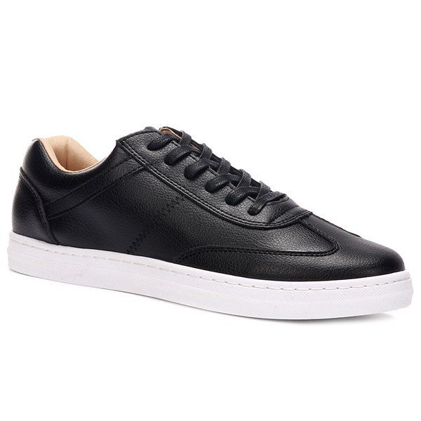 Simple Men's Casual Shoes With Lace-Up and PU Leather Design #jewelry, #women, #men, #hats, #watches, #belts, #fashion