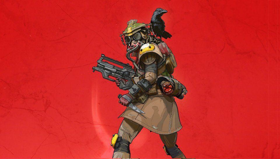 Video Game Apex Legends Red Background Wallpaper Bloodhound