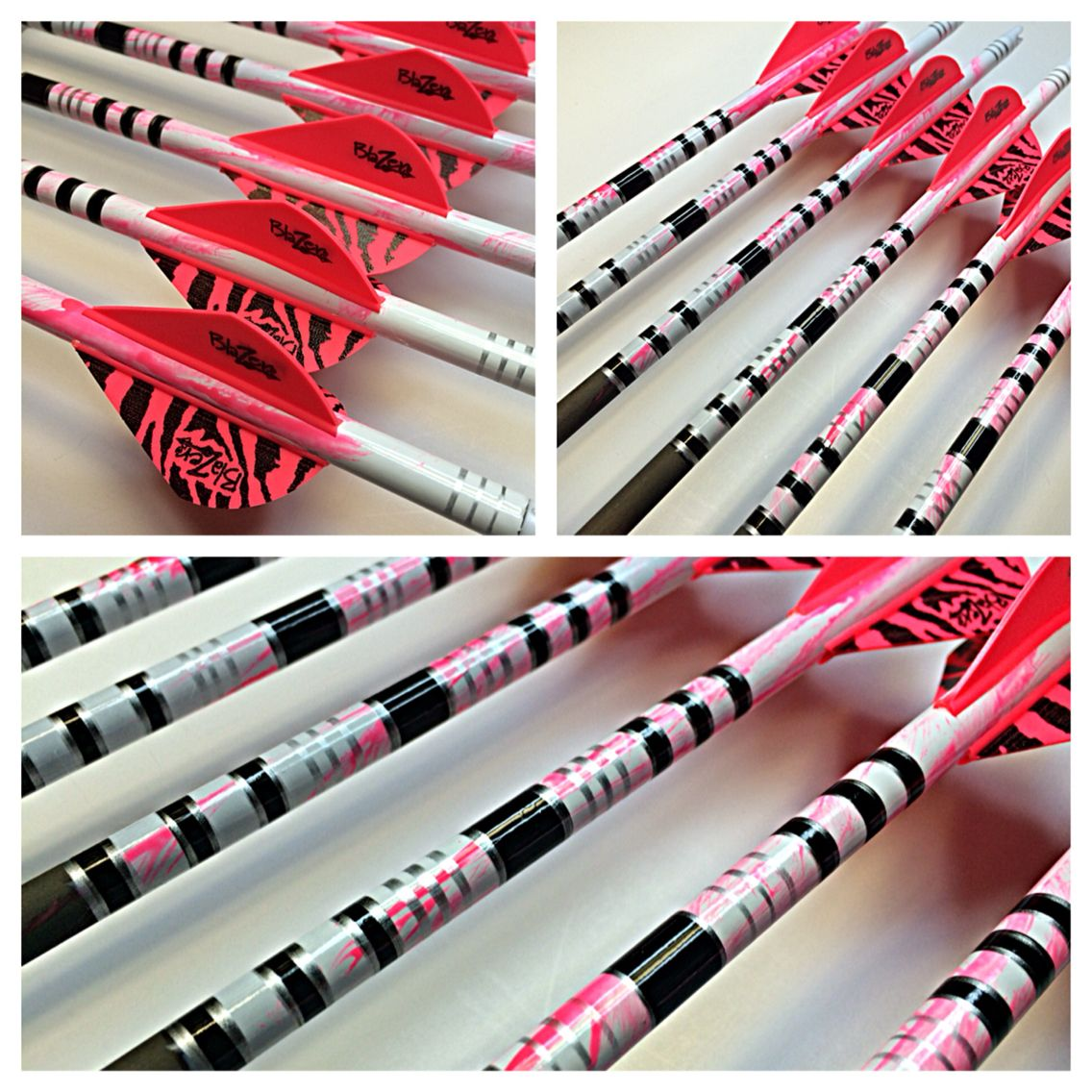 Custom arrows in Pink Splash. Archery bows, Archery