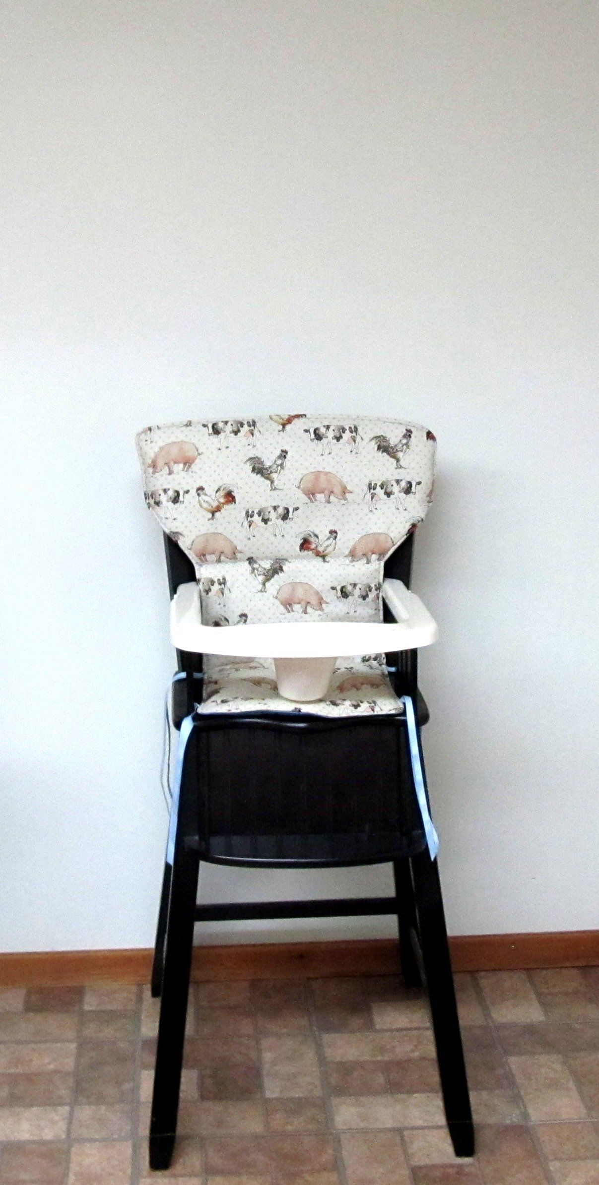 Ed Bauer Padded Newport High Chair Cover Or Safety First Pad Replacement Feeding Baby Accessory Farm Animals