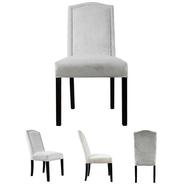 Kacey Star Velvet Nailback Tufted Upholstered Dining Chair Set of 2