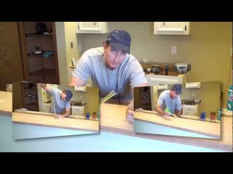 joe kistel how to install new sheet laminate over an old countertop the laminate includes seaming two pieces of laminate together