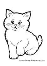 Dibujos Para Colorear De Gatos Animalitos Para Colorear Gatos Para Pintar Animales Para Pintar