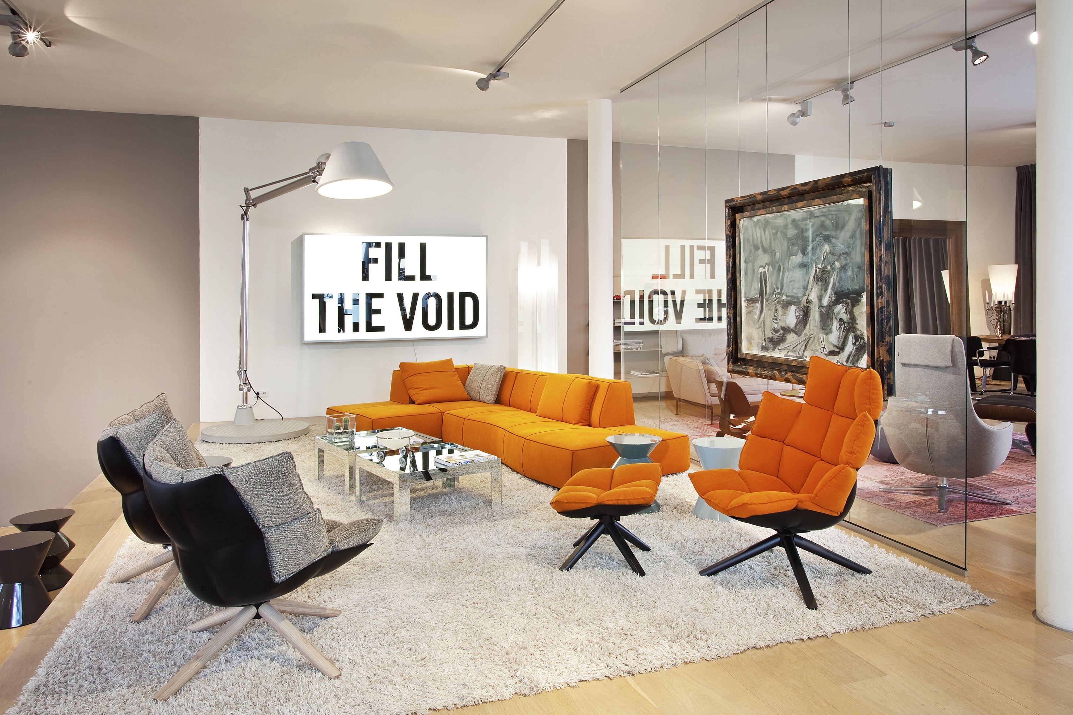 designer sessel husk indoor outdoor, sofa bend und sessel husk von b & b italia   showroom leptien 3, Möbel ideen
