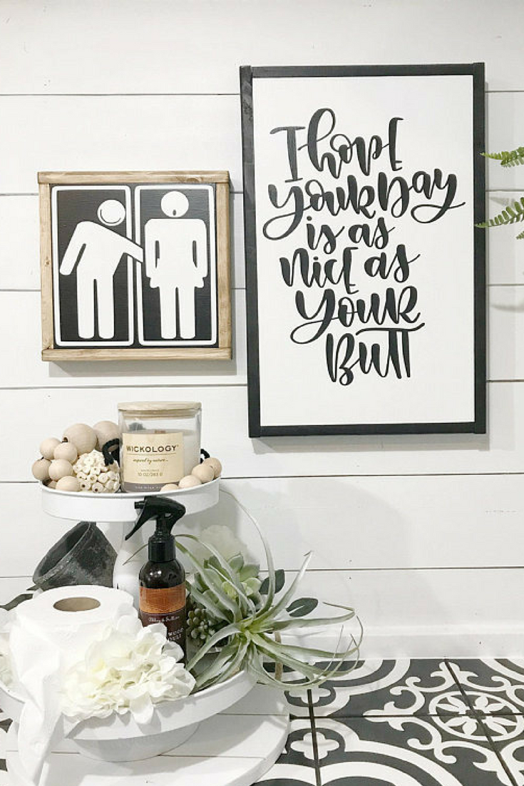 Male And Female Rustic Bathroom Signs Rustic Farmhouse Bathroom Decor Ad Farmhouse Farmhouses Bathroom Wall Decor Art Wood Signs Home Decor Bathroom Signs