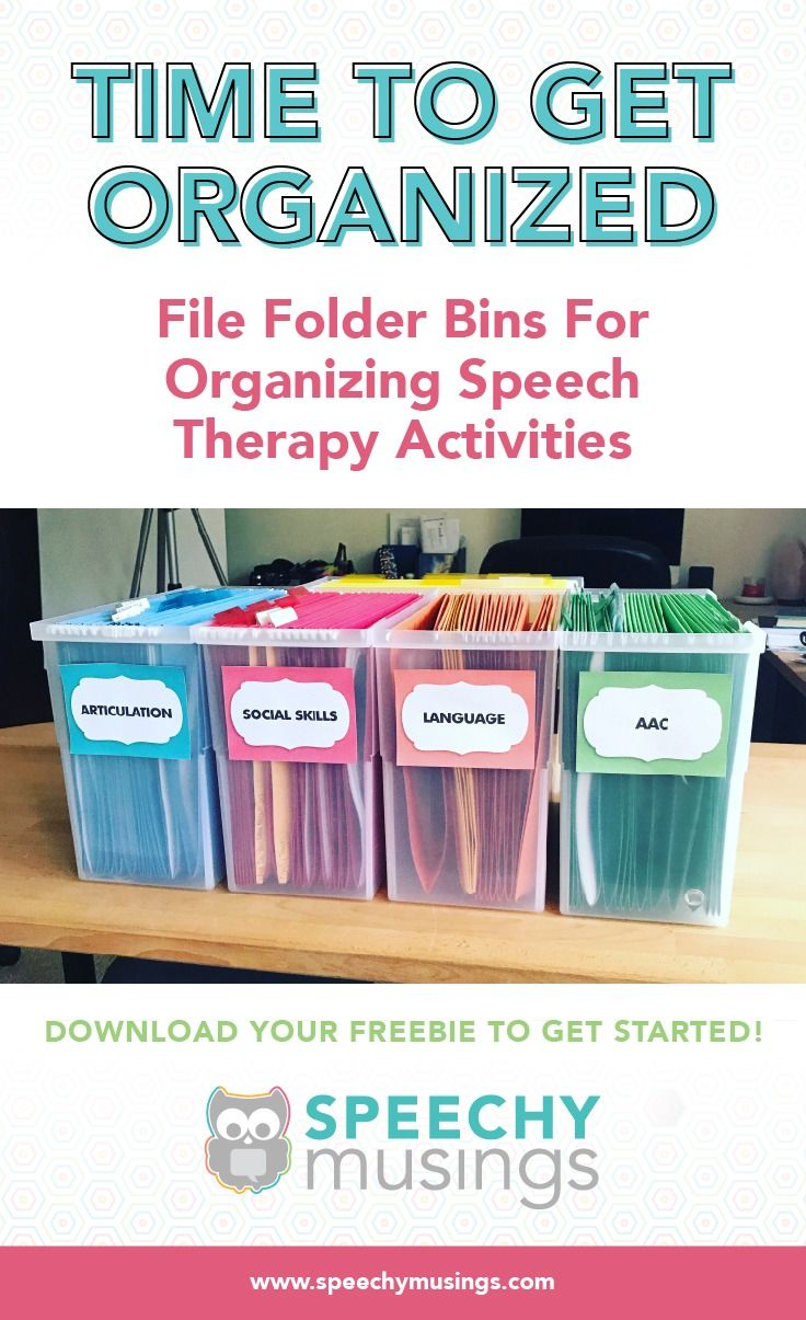 FILE FOLDER BINS FOR ORGANIZING SPEECH THERAPY ACTIVITIES images