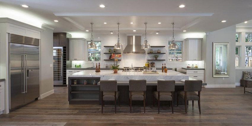50 Gorgeous Kitchen Designs With Islands | Kitchen island ...