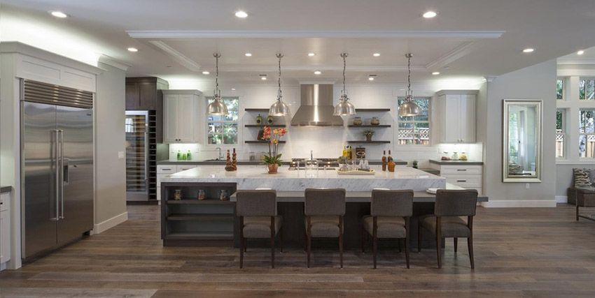 50 Gorgeous Kitchen Designs With Islands Kitchen Island With Seating For 4 Large Kitchen Design Cottage Kitchen Design