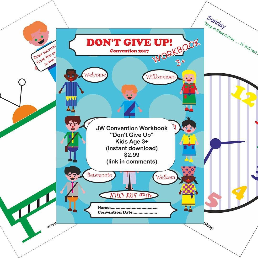 Jw Convention Workbook Don T Give Up Kids Age 3 For 2