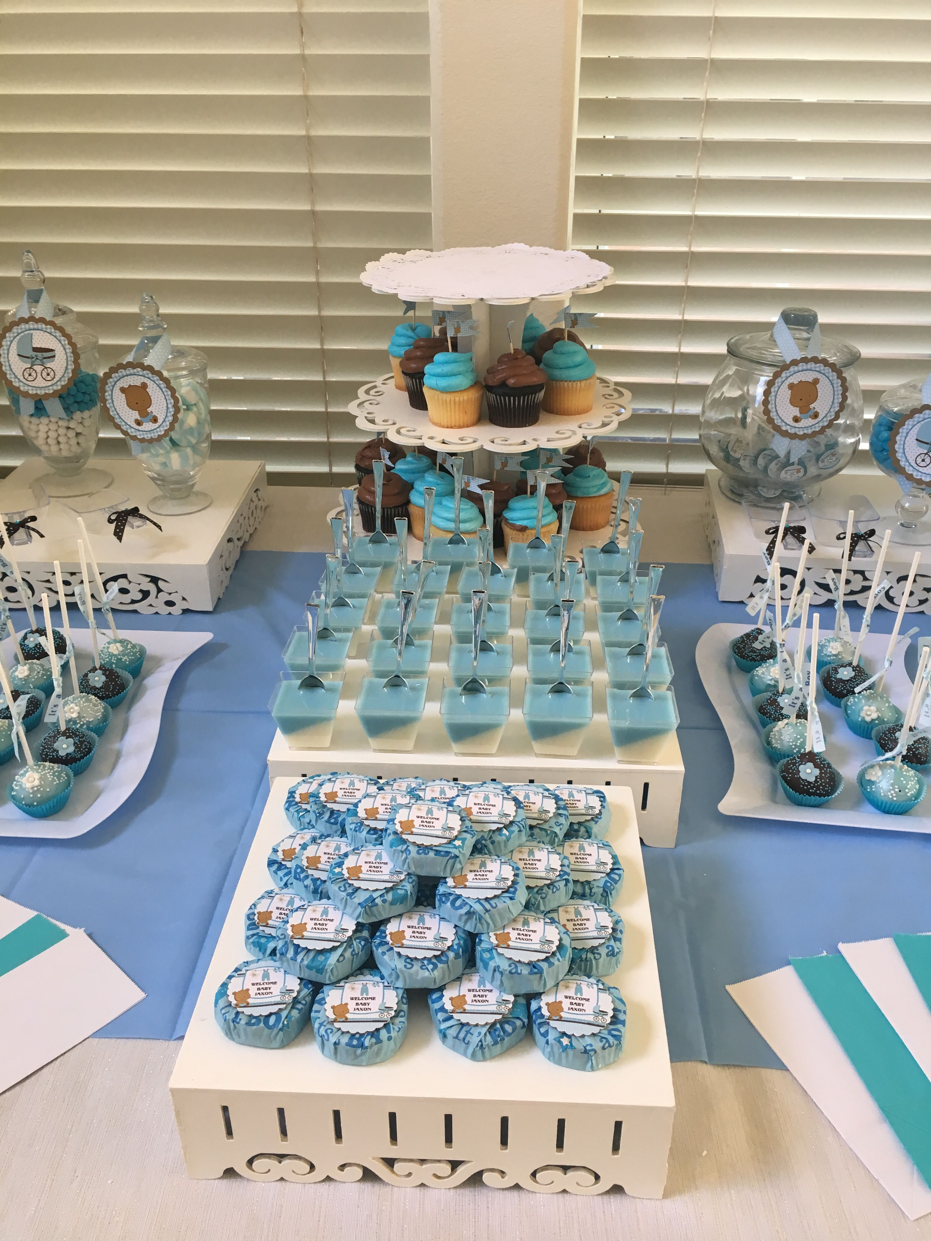 Boy Baby Shower Sweet Table Baby Shower Sweets Baby Shower