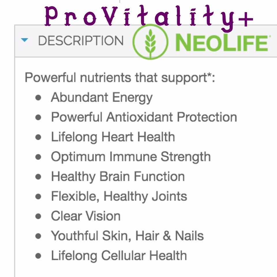 Pro Vitality Plus Gnld Neolife Contiene Omega 3 Plus Carotenoid Healthy Brain Function Healthy Joints Health