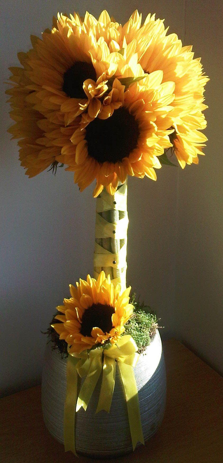 simple sunflower topiary | Frozen | Pinterest