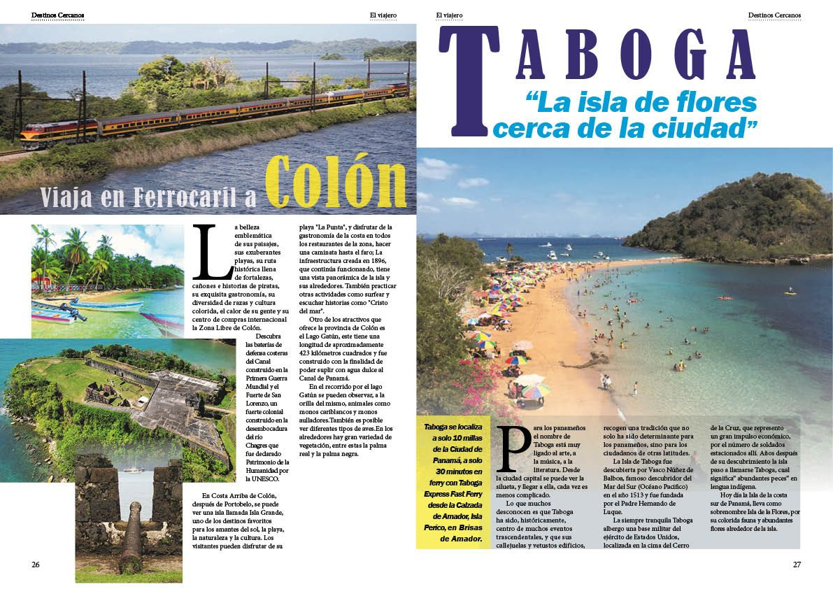Panamá Colón Taboga Revista El Viajero Adobe Indesign Desktop Screenshot Screenshots