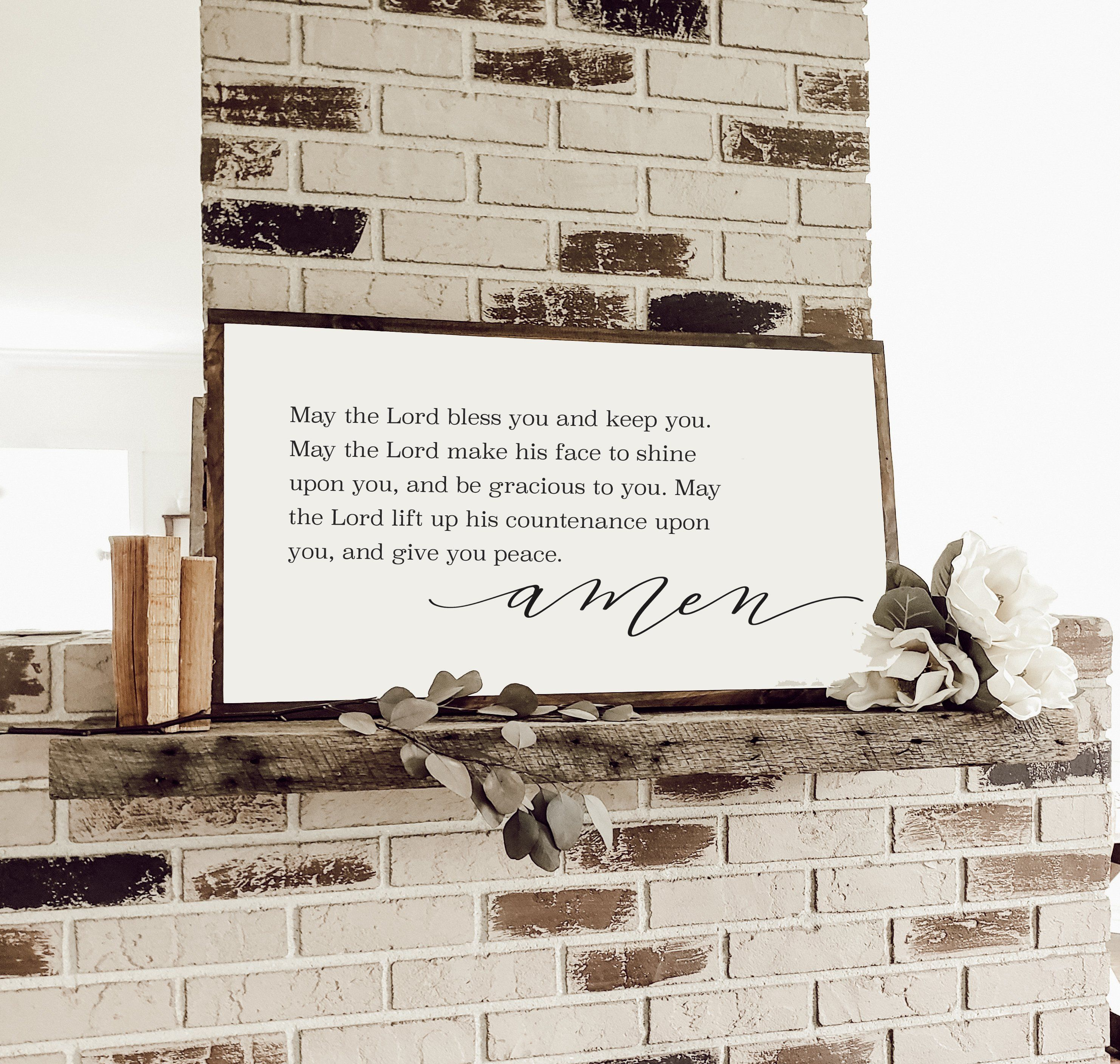 May The Lord Bless You And Keep You Wall Art Numbers 6 24 26 Bible Verse Sign Scripture Printable Printable Nursery Art Monogram Wall Art Bible Verse Signs