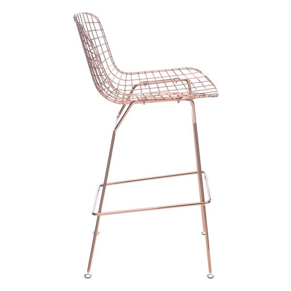 WIRE Bar Stool Rose Gold ($320) ❤ liked on Polyvore featuring home,  furniture