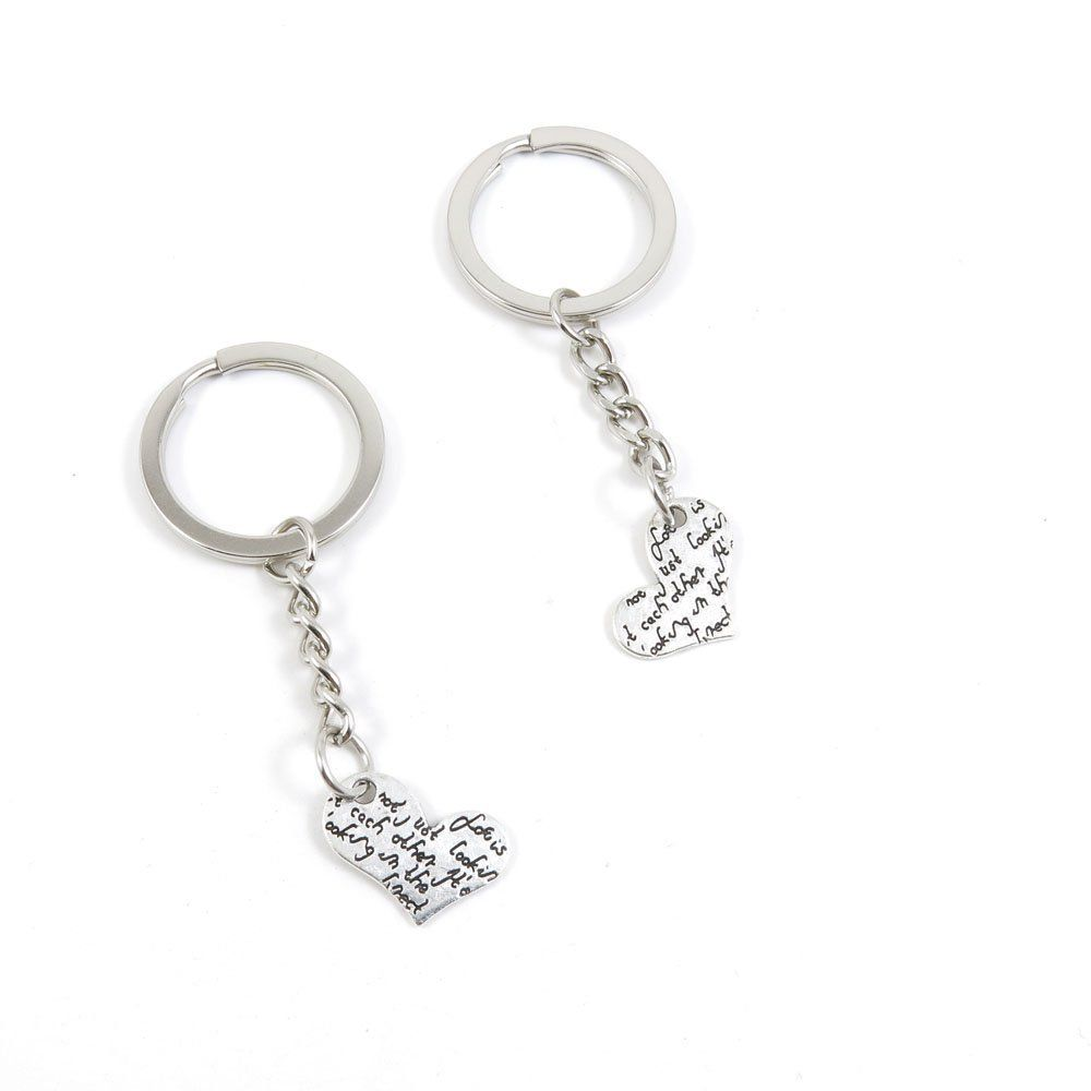 1 Pieces Keychain Door Car Key Chain Tags Keyring Ring Chain Keychain  Supplies Antique Silver Tone Wholesale Bulk Lots V5TD1 Heart Signs    Startling big ... a11eb1b0bc