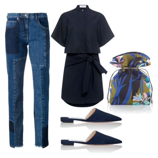 """""""Casual Blues"""" by dprice1515 ❤ liked on Polyvore featuring 10 Crosby Derek Lam, Emilio Pucci, Prada and McQ by Alexander McQueen"""