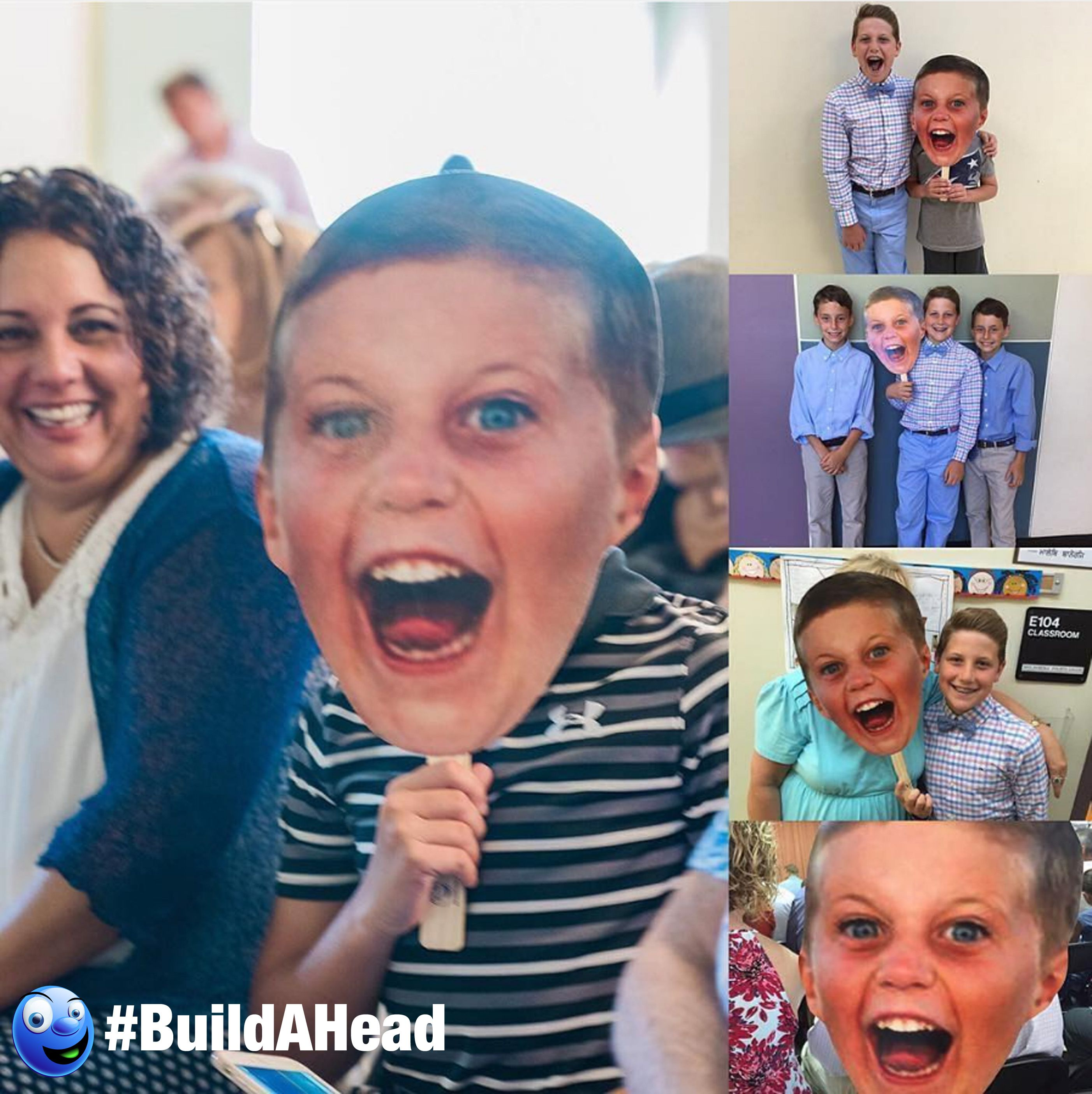 Build A Head >> Big Head On A Stick Was A Huge Hit At The Party Make Your