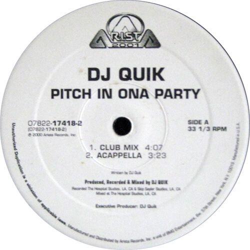 Dj Quik Pitch In Ona Party Dj Quik Dj Club Music