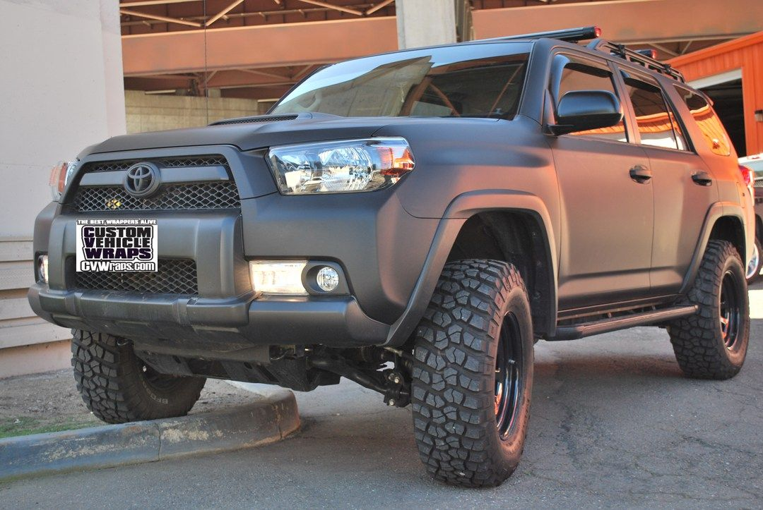 Matte Black Wrap Toyota 4runner Cars And Motorcycles Pinterest