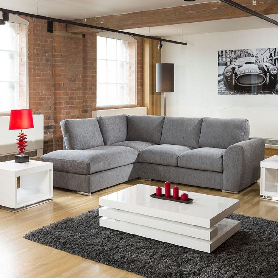 Modern L Shape Sofa Set Settee Corner Group 265x210cm Grey Fabric L In 2020 L Shape Sofa Set L Shaped Sofa Sofa Set